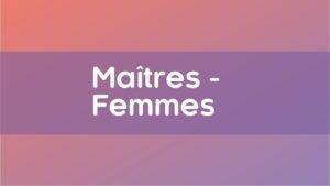 Championnat Maitres Femmes